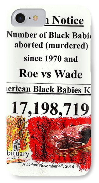 Black Babies Killed Aborted Murdered 1 Since 1970 And Roe Vs Wade IPhone Case