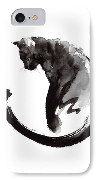 Cat iPhone 8 Case - Black Cat by Mariusz Szmerdt