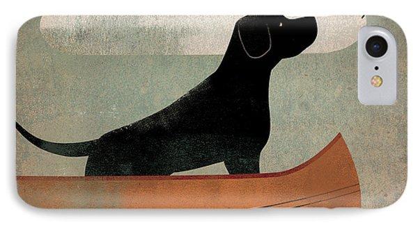 Black Dog Canoe IPhone Case