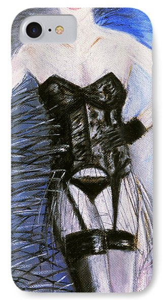 Black Lace Corset Art Print IPhone Case