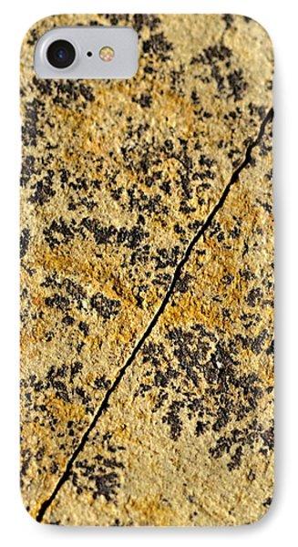 Black Patterns On The Sandstone IPhone Case