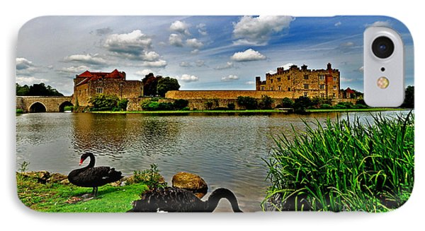 Black Swans At Leeds Castle II IPhone Case