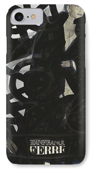 Black Swirls Of Pop Graffiti Model IPhone Case