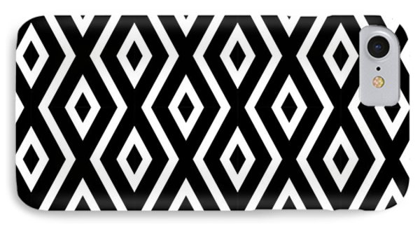 Shapes iPhone 8 Case - Black And White Pattern by Christina Rollo