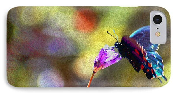 Black Willowtail Butterfly IPhone Case
