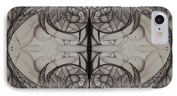Blank Inside Card   Black And White Abstract IPhone Case