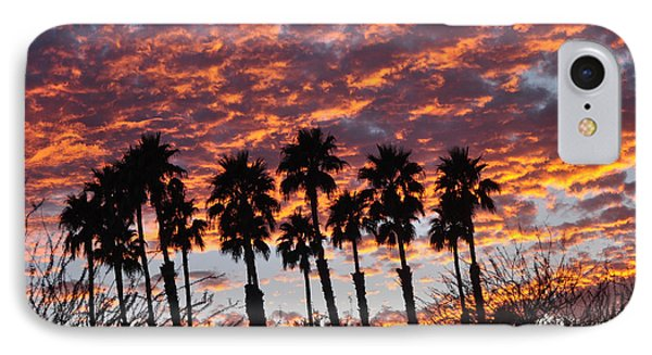 Bloody Sunset Over The Desert IPhone Case