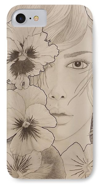 Blooming Girl Pansy Refined IPhone Case