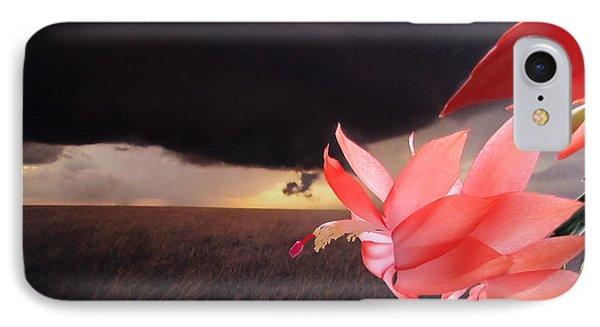 Blooms Against Tornado IPhone Case