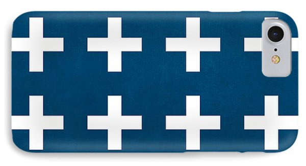 Blue And White Plus Sign IPhone Case