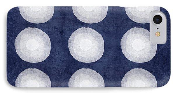 Blue And White Shibori Balls IPhone Case