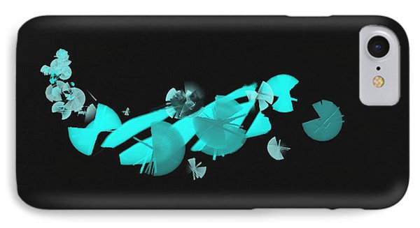 Blue Autumn Twist IPhone Case