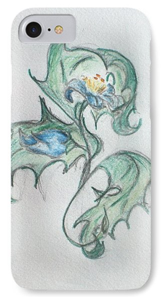 Blue Blossom 2 IPhone Case