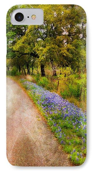 Blue Bonnet Path IPhone Case