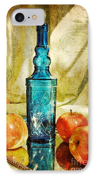 Blue Bottle With Apples IPhone Case