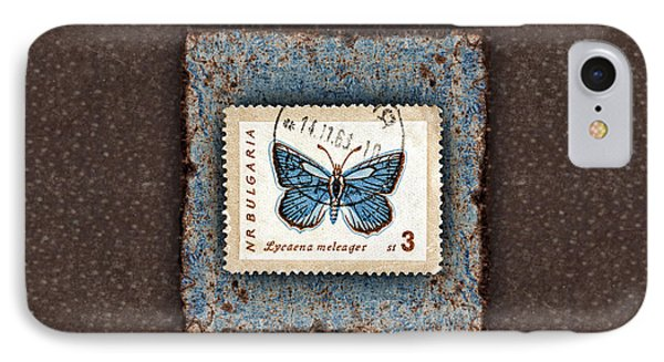 Blue Butterfly On Copper IPhone Case