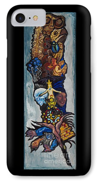 Blue Crow Feather- Crow Series IPhone Case