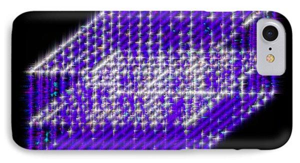 Blue Diamond Grid IPhone Case