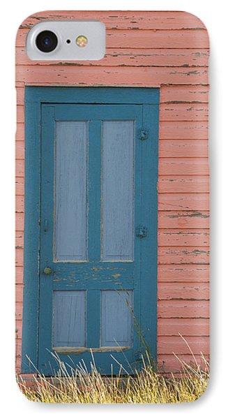 Blue Entrance Door IPhone Case