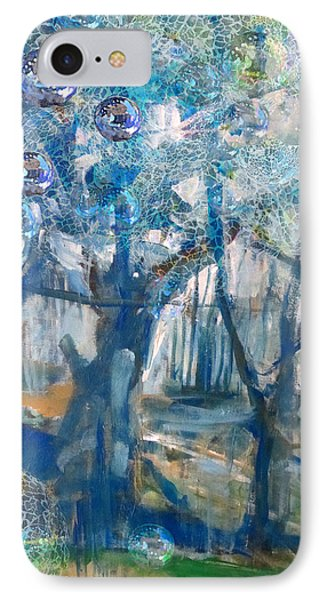 Blue Glass Bead Tree IPhone Case
