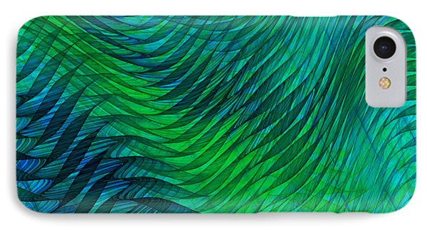 Blue Green Fabric Abstract IPhone Case