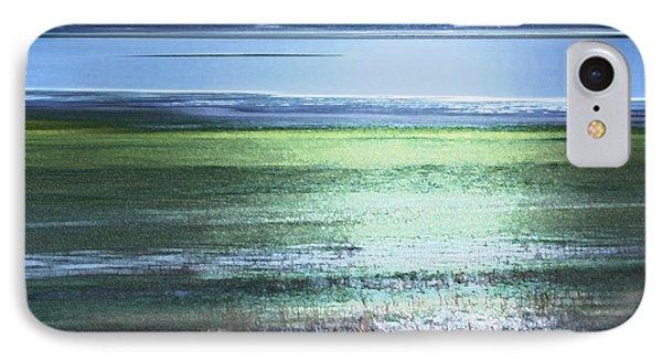 Blue Green Landscape IPhone Case