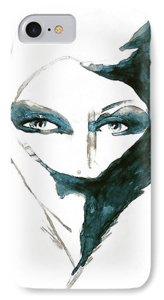 Blue Lady Art Print IPhone Case
