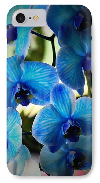 Orchid iPhone 8 Case - Blue Monday by Mandy Shupp