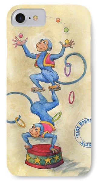 Blue Monkeys IPhone Case