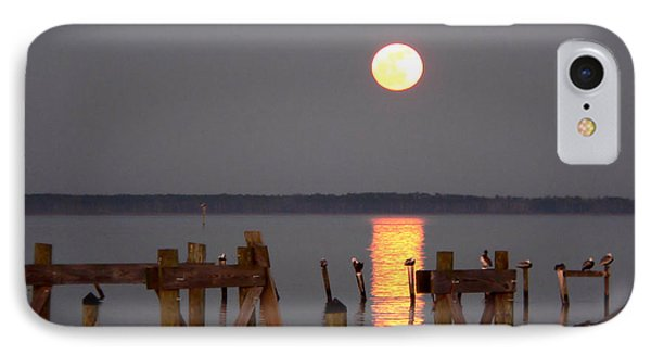 Blue Moon On The Bay On New Years Eve 2009 IPhone Case