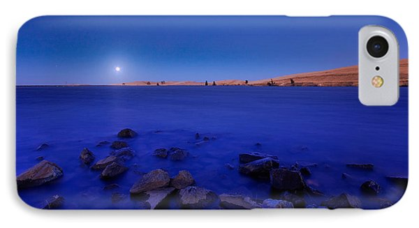 Blue Moon On The Rocks IPhone Case
