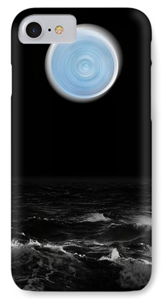 Blue Moon Over The Sea IPhone Case
