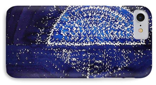 Blue Moonrise Original Painting IPhone Case