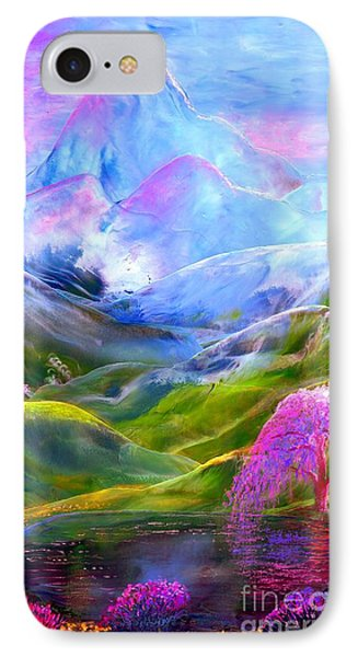 Orchid iPhone 8 Case - Blue Mountain Pool by Jane Small