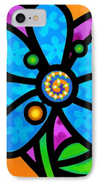Blue Pinwheel Daisy IPhone Case
