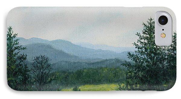 Blue Ridge Mountain Meadow - After The Rain IPhone Case