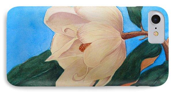 Blue Sky Magnolia IPhone Case