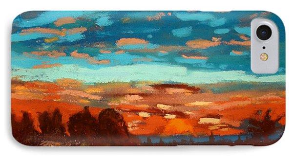 Blue Sunset Pastel IPhone Case