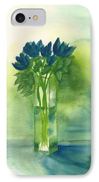 Blue Tulips In Glass Vase IPhone Case