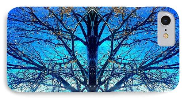 Blue Winter Tree IPhone Case