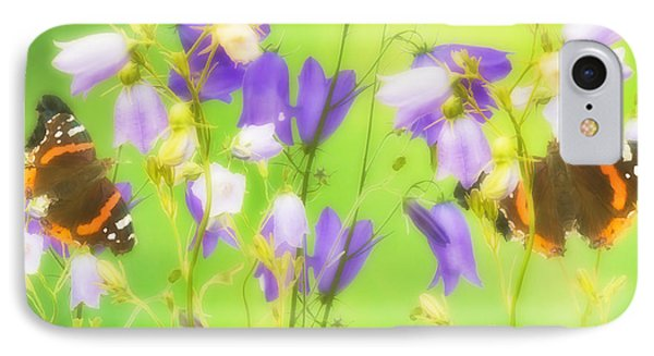 Bluebells And Butterflies IPhone Case