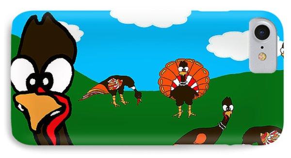 Blueskyfarm Turkeys IPhone Case