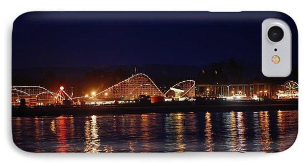 Santa Cruz Boardwalk At Night IPhone Case