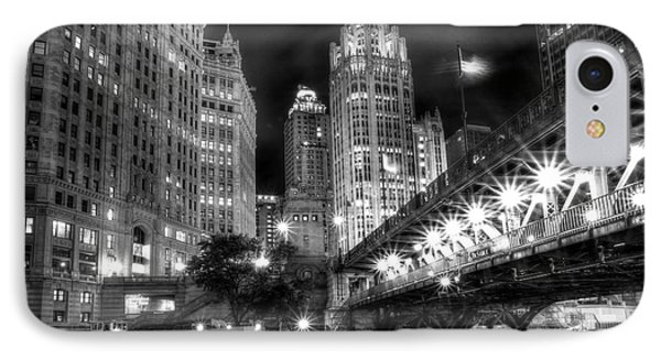 Boat Along The Chicago River IPhone Case