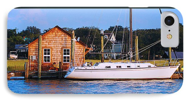 Boat At Shem Creek By Jan Marvin IPhone Case