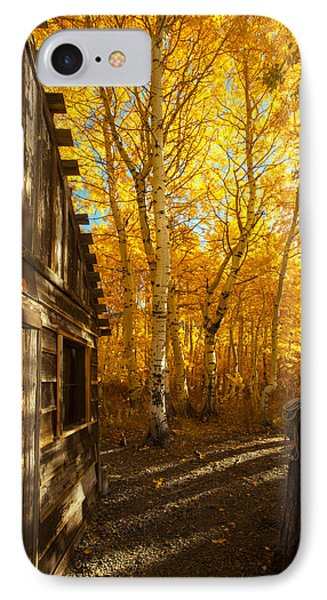Boat House Among The Autumn Leaves  IPhone Case