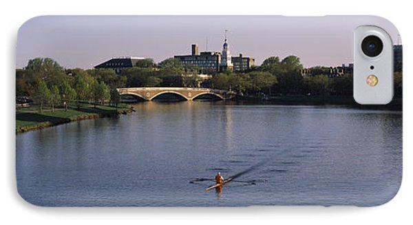 Boat In A River, Charles River, Boston IPhone Case