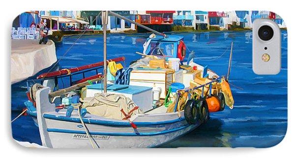Boat In Greece IPhone Case