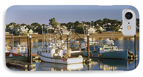 Boats At A Harbor, Provincetown, Cape IPhone Case