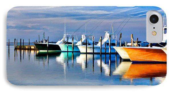 Boats At Oregon Inlet Outer Banks II IPhone Case